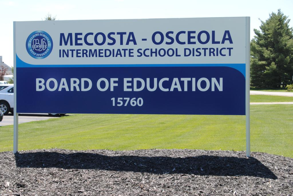 Board of Education MOISD Building Sign
